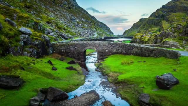 Aerial of Gap of Dunloe - Ireland