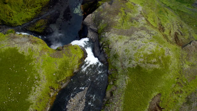 aerial of glacial geothermal landscape in iceland - eco tourism video stock e b–roll