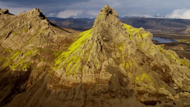 aerial of glacial geothermal landscape in iceland - pinnacle stock videos & royalty-free footage