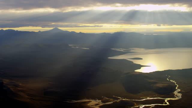 stockvideo's en b-roll-footage met aerial of glacial geothermal landscape in iceland - broek