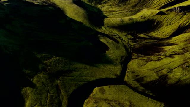 aerial of glacial geothermal landscape in iceland - 北半球点の映像素材/bロール