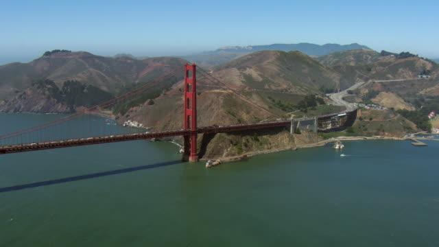 Aerial Of Golden Gate Bridge At Sausalito