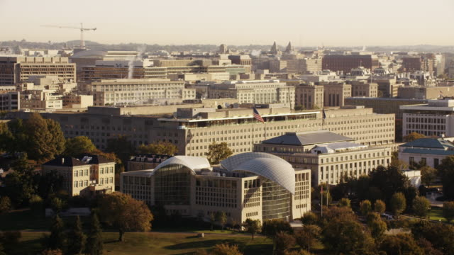 aerial of harry s. truman building, daytime washington d.c. - harry truman stock videos and b-roll footage