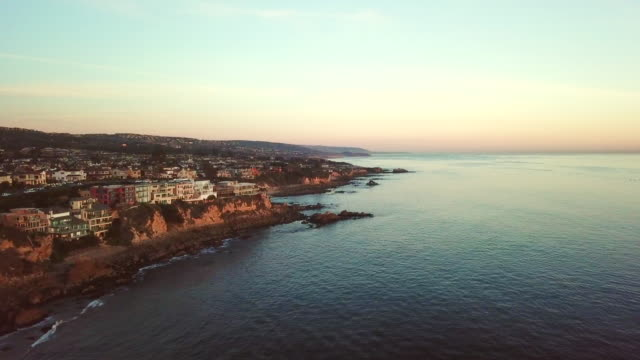 Aerial of Homes on the Cliff of Newport Beach