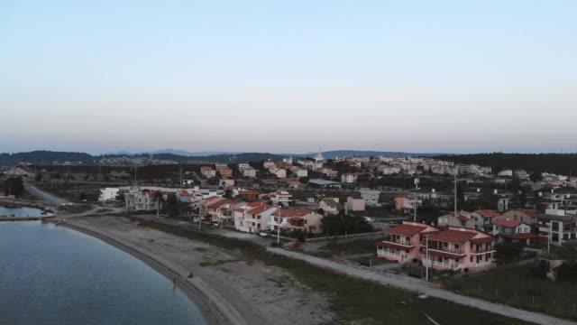 aerial of homes turkey izmir - izmir stock videos & royalty-free footage
