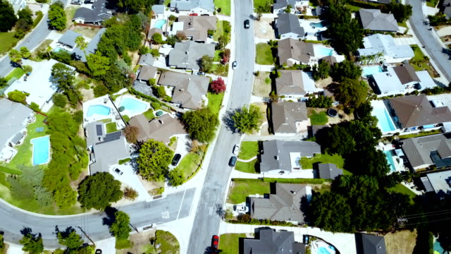 aerial of homes - pasadena california stock videos & royalty-free footage
