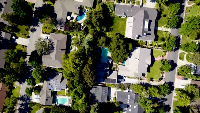 aerial of homes - district stock videos & royalty-free footage