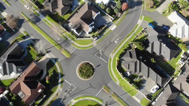 aerial of houses in suburb. - district stock videos & royalty-free footage