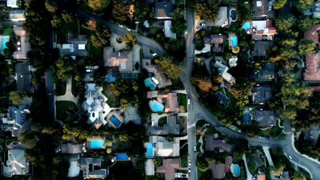 aerial of houses - town stock videos & royalty-free footage