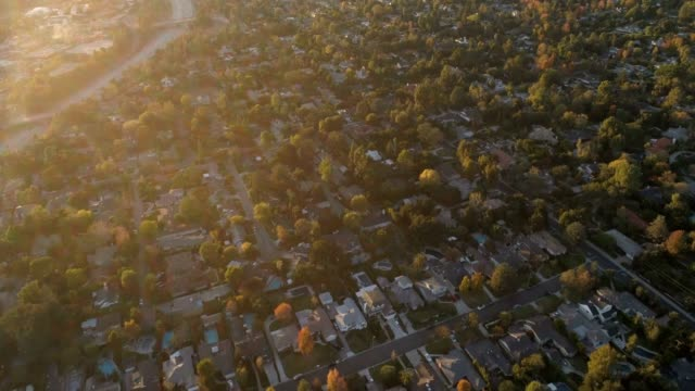 aerial of houses - morning stock videos & royalty-free footage