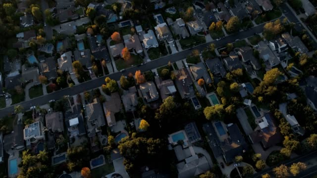 aerial of houses - pasadena california stock videos & royalty-free footage