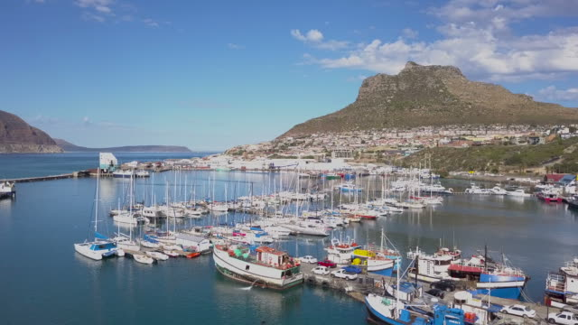Aerial of Hout Bay, South Africa