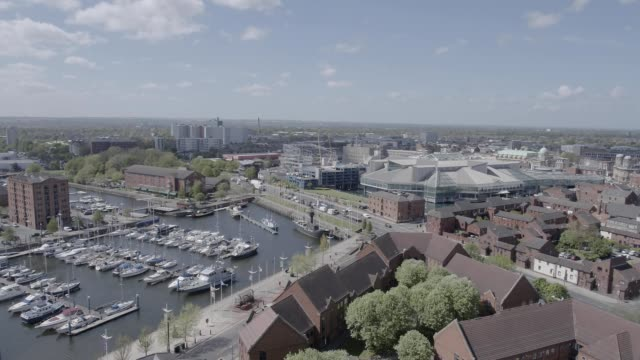 aerial of hull, uk, city of culture - hull stock videos & royalty-free footage
