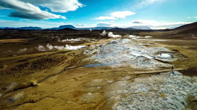 Luftbild von Hverir vulkanischen Region in Island