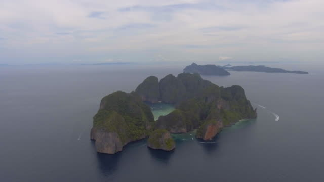 aerial of island ,phi phi thailand - latin american civilizations stock videos and b-roll footage