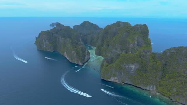 Aerial of island ,Phi Phi Thailand