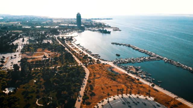 aerial of izmir - turkey - izmir stock videos & royalty-free footage