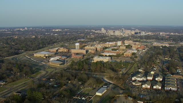 aerial of jackson state university mississippi - jackson stock videos & royalty-free footage