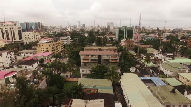 aerial of lagos, nigeria - nigeria stock videos & royalty-free footage