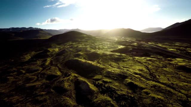 luftaufnahme von lava field at snaefellsnes-island - snäfellsnes stock-videos und b-roll-filmmaterial