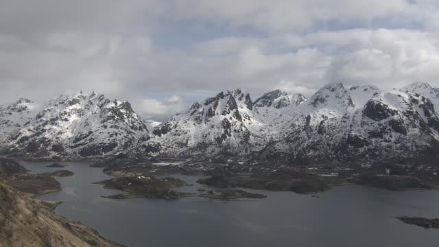 aerial of lofoten - fjord stock videos & royalty-free footage
