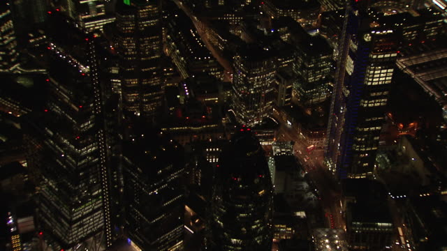 aerial of london financial district. - 1 minute or greater stock videos & royalty-free footage