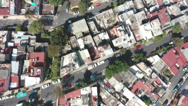 aerial of mexico city dwellings - slum stock videos & royalty-free footage