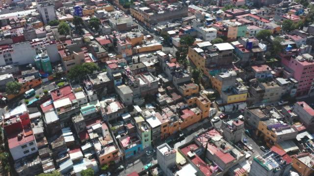 vidéos et rushes de aerial of mexico city dwellings - mexico