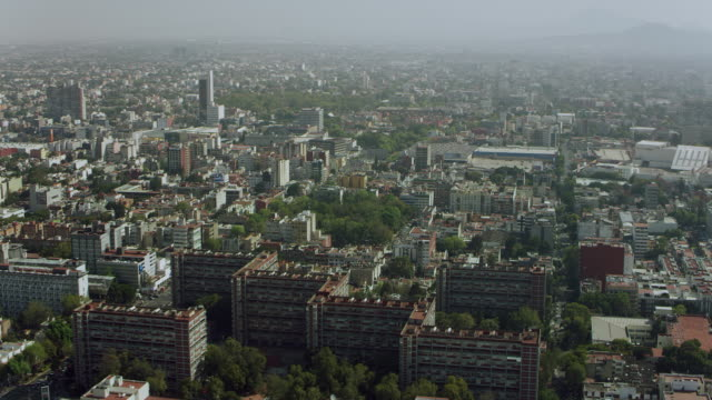 aerial of mexico city housing projects - council flat stock videos & royalty-free footage