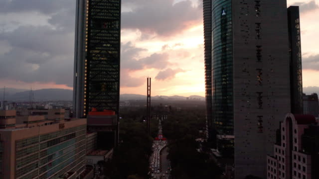 aerial of mexico city traffic and high-rises - aerial stock videos & royalty-free footage