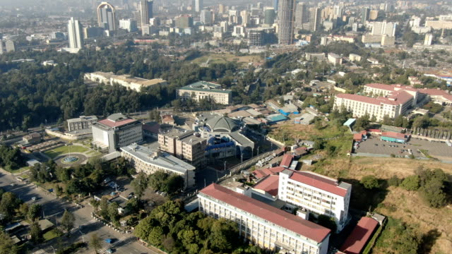 aerial of ministry of foreign affairs / addis ababa - horn of africa stock videos & royalty-free footage