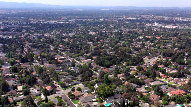 aerial of monrovia, california - geographical locations stock videos & royalty-free footage