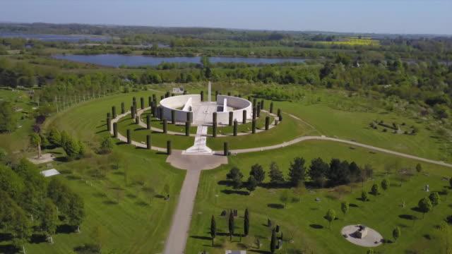aerial of national arboretum - national memorial arboretum stock videos & royalty-free footage