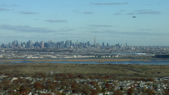 Aerial Of New York City From Kearny NJ