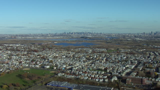 Aerial Of NYC From Kearny New Jersey