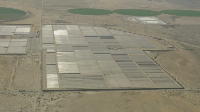 Aerial of Pacific Gas Electric Solar units California