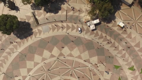 aerial of praca quinze de novembro in rio de janeiro - rio de janeiro bildbanksvideor och videomaterial från bakom kulisserna