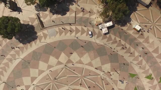 aerial of praca quinze de novembro in rio de janeiro - courtyard stock videos & royalty-free footage