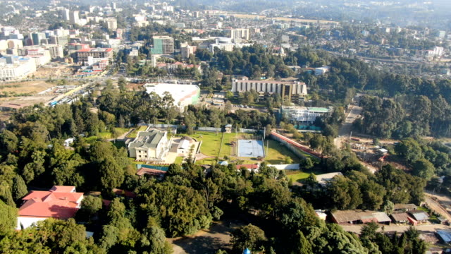 aerial of prime minister residence, parliament/ addis ababa - horn of africa stock videos & royalty-free footage
