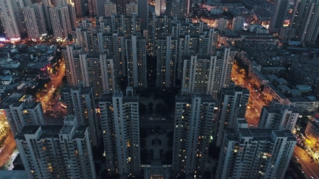 aerial of residential building - beijing stock videos & royalty-free footage