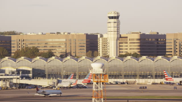 Aerial of Ronald Reagan Washington National Airport, D.C. daytime