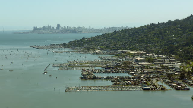 Aerial Of Sausalito On The San Francisco Bay
