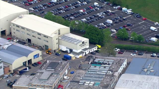 aerial of shepperton studios london - shepperton studios stock videos & royalty-free footage