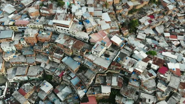 aerial of slum in petare part of caracas - maduro stock videos & royalty-free footage