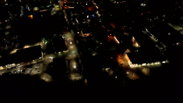 aerial of small city - town stock videos & royalty-free footage