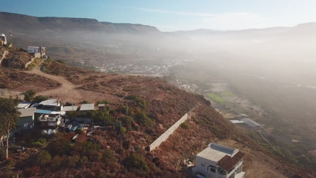 aerial of small hill on the hill in baja mexico - baja california peninsula stock videos and b-roll footage