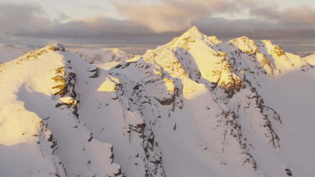 aerial of snowcapped peaks - new zealand southern alps stock videos & royalty-free footage