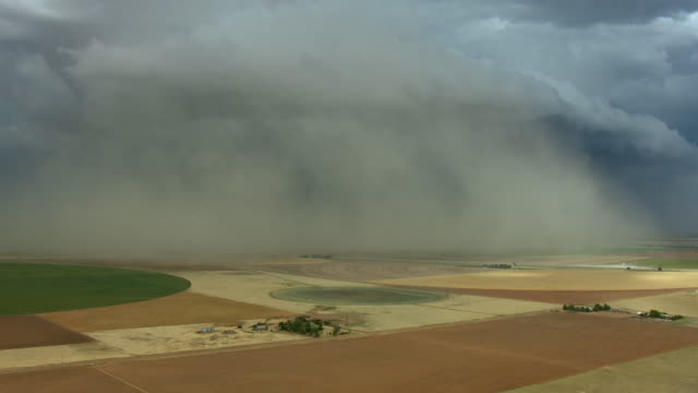 Aerial Of Storm Over Fields In Texas