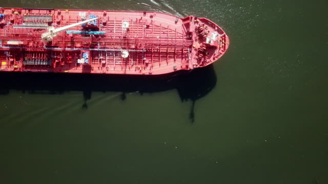aerial of tanker ship - baltic countries stock videos and b-roll footage