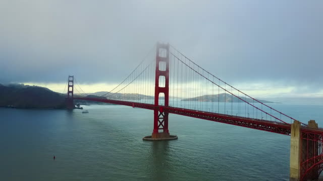 aerial of the amazing area of golden gate bridge - golden gate bridge stock-videos und b-roll-filmmaterial